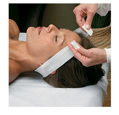 disposable hair restraints with velcro closure for facial and spa treatments
