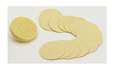 Yellow compressed sponge for facials