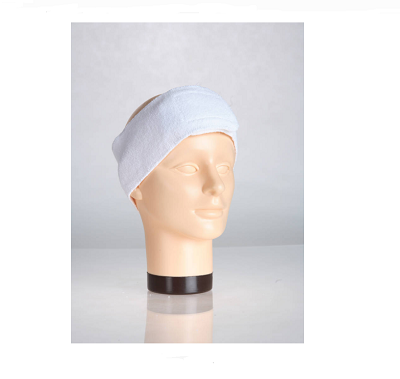wide cloth hair restraint for facials and spas