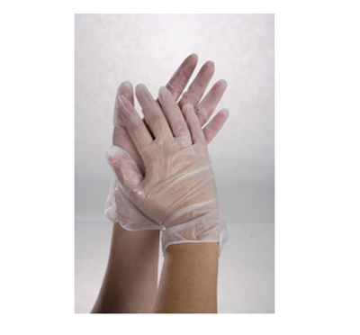 vinyl protective hand covers for facial and spa treatments