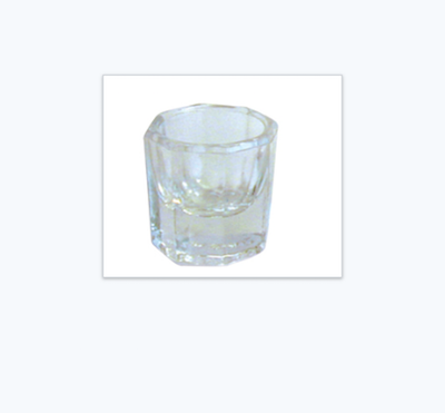 Glass dappen cup for mixing small quantities of facial products