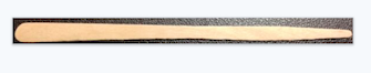 wooden stick applicator to apply wax to eye and lip areas