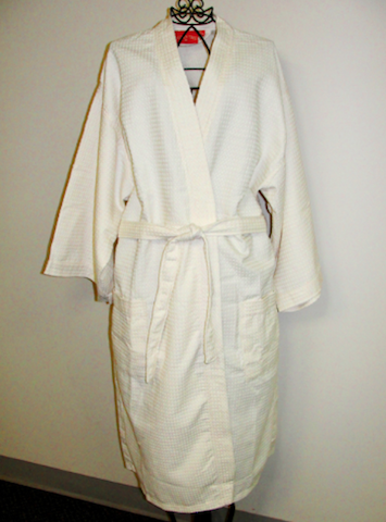 thick waffle weave cloth robe cover up for spa guest