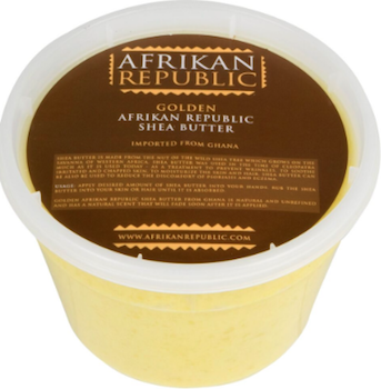 100% african shea butter for skin conditions and moisturization