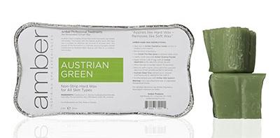 Amber non-strip wax austrian green for hair removal