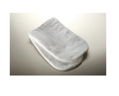 Reusable cloth mittens for manicure treatments