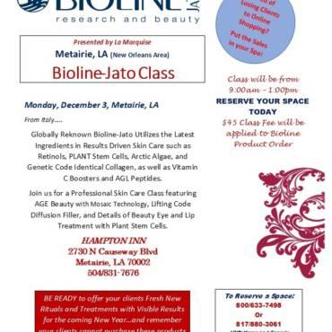 Bioline-Jato New Orleans Class December 3
